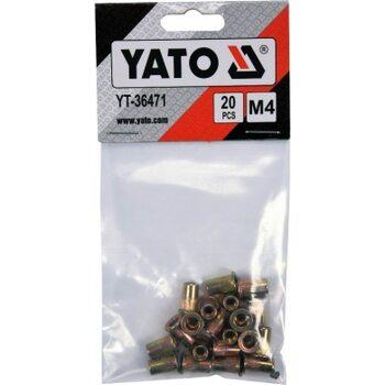 Набор заклепок 20 шт M4 YATO YT-36471