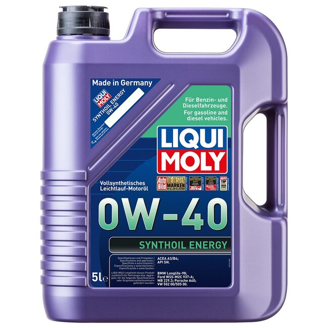 Моторное масло Liqui Moly Synthoil Energy 0w40 5л