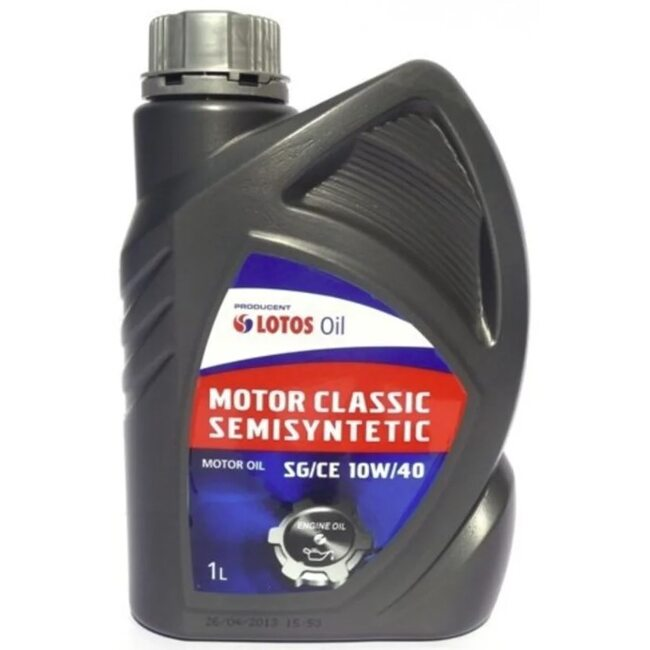 Моторное масло LOTOS Semisynthetic MOTOR CLASSIC SG/CE 10W40 1л.