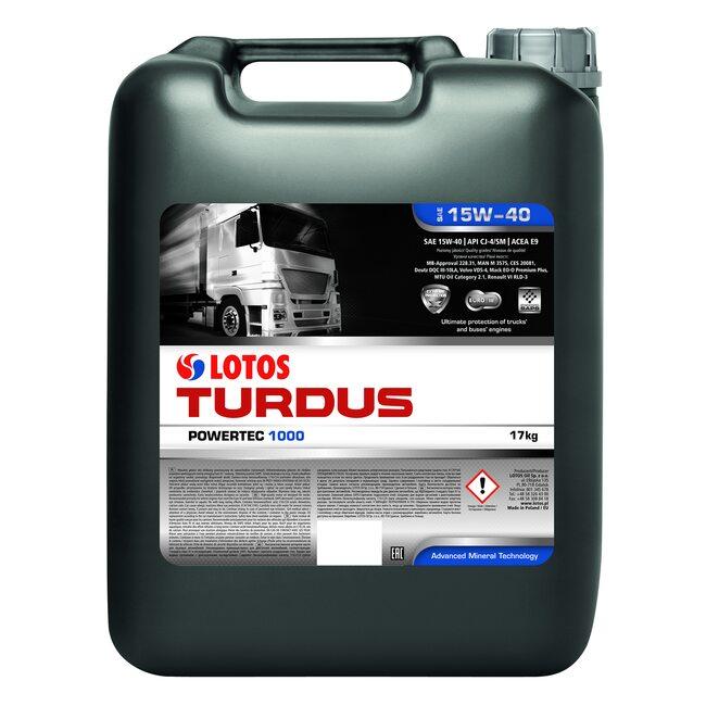 Моторное масло LOTOS TURDUS POWERTEC 1000 SAE 15W40 20л
