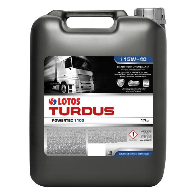 Моторное масло LOTOS TURDUS POWERTEC 1100 SAE 15W-40 20л.