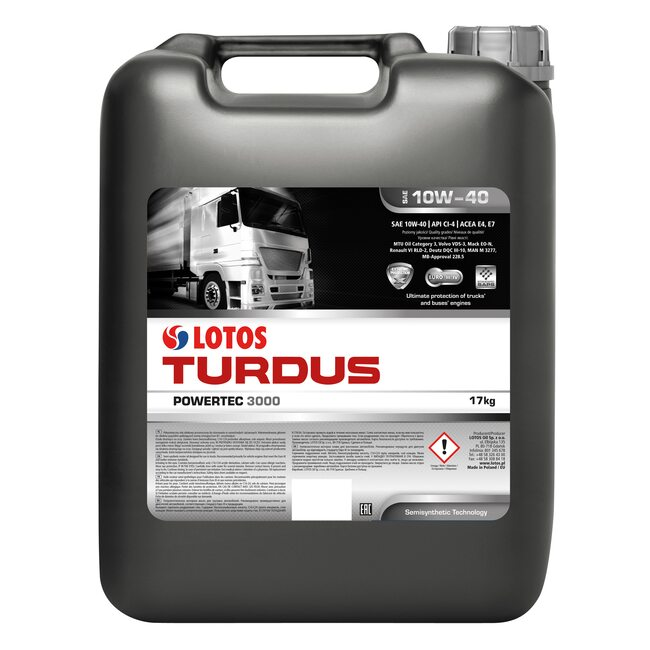 Моторное масло LOTOS TURDUS POWERTEC 3000 CI-4 10W40 20л