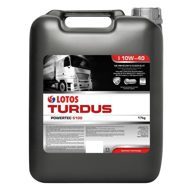 Моторное масло LOTOS TURDUS POWERTEC 5100 SAE 10W-40 20л