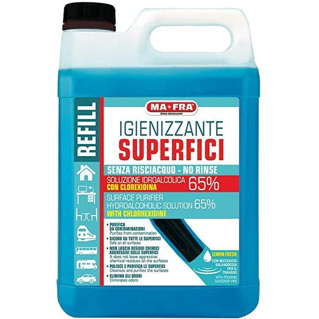 Водно-спиртовой раствор Ma-Fra Igienizzante Superfici 5л