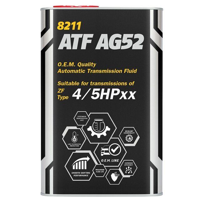 Трансмиссионное масло Mannol ATF AG52 Automatic Special - 5л