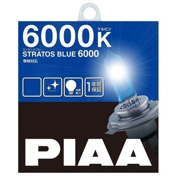 PIAA STRATOS BLUE (6000K — H1/H3/H4/H7/H11/HB/HB3/HB4)
