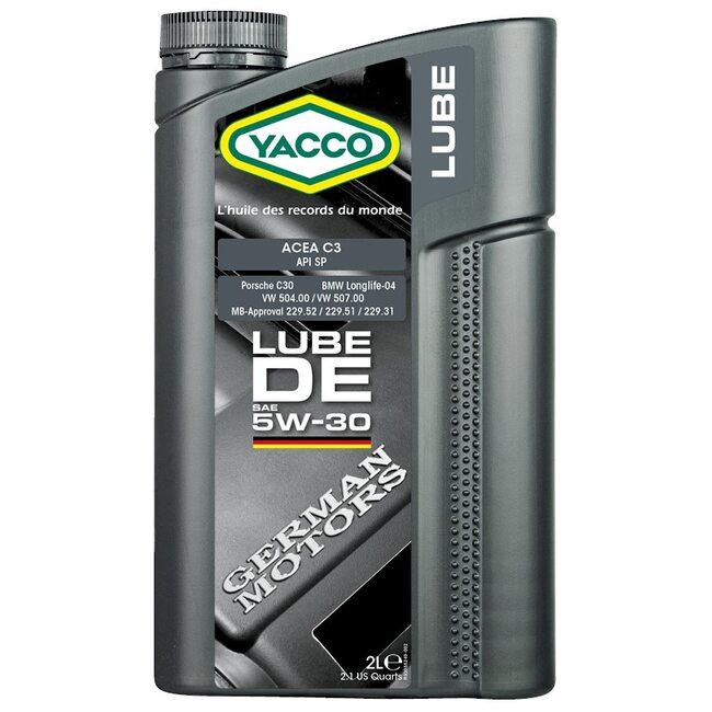 Моторное масло Yacco LUBE DE 5W30 2л