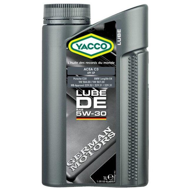 Моторное масло ПАО Yacco LUBE DE 5W30 1л