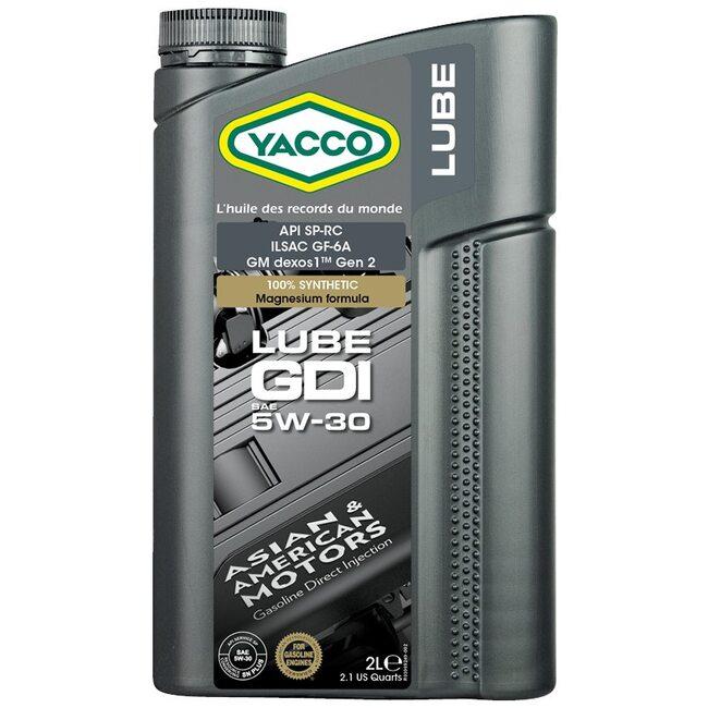 Масло Yacco LUBE GDI 5W30 2л с стандартом ILSAC GF-6A