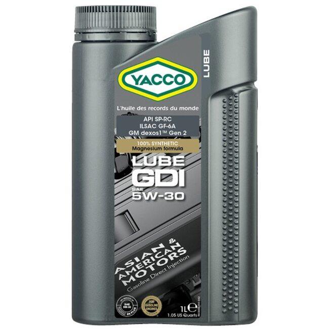 Масло Yacco LUBE GDI 5W30 1л. Устраняет эффект LSPI