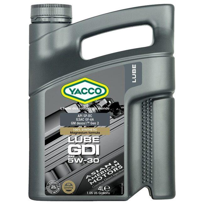 Моторное масло Yacco LUBE GDI 5W30 4л