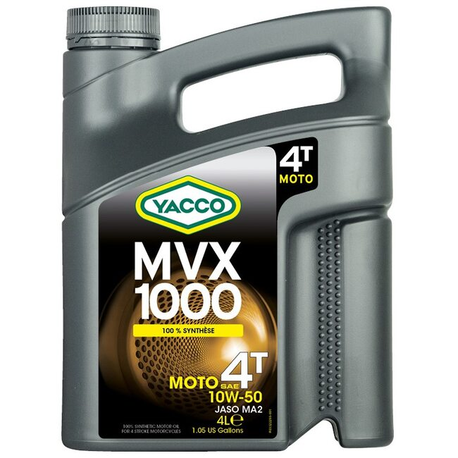 Масло для мотоциклов Yacco MVX 1000 4T 10W50 4л