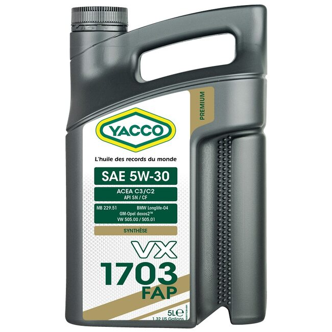 Моторное масло Yacco VX 1703 FAP 5W30 5л