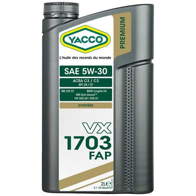 Моторное масло Yacco VX 1703 FAP 5W30 2л