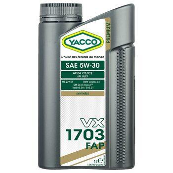 Yacco VX 1703 FAP 5W30 1л
