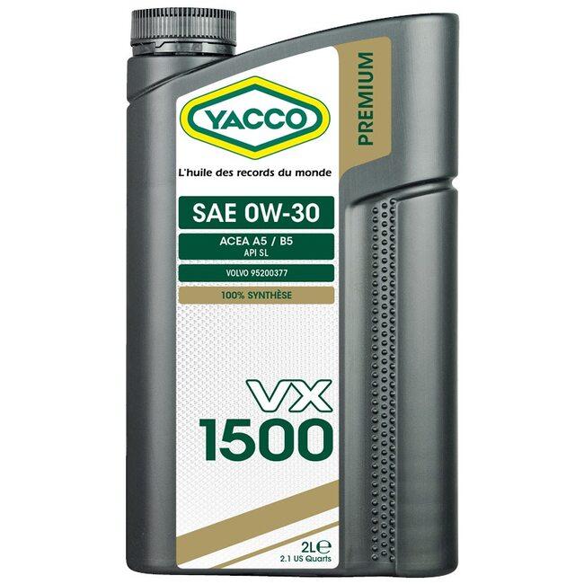 Моторное масло Yacco VX 1500 0W30 2л