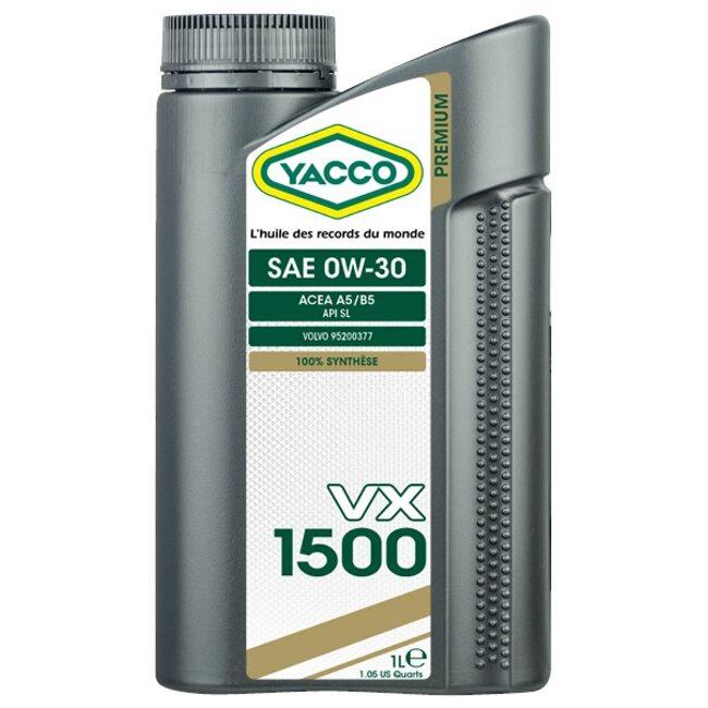 Моторное масло Yacco VX 1500 0W30 1л