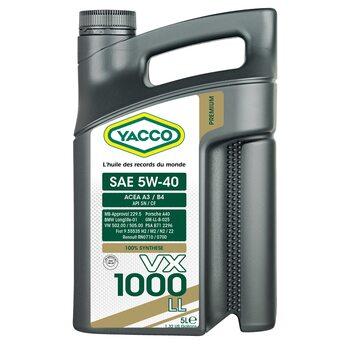 Yacco VX 1000 LL 5W40 5л