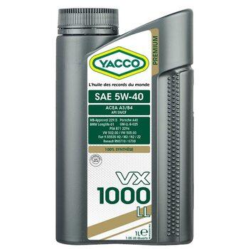 Yacco VX 1000 LL 5W40 1л