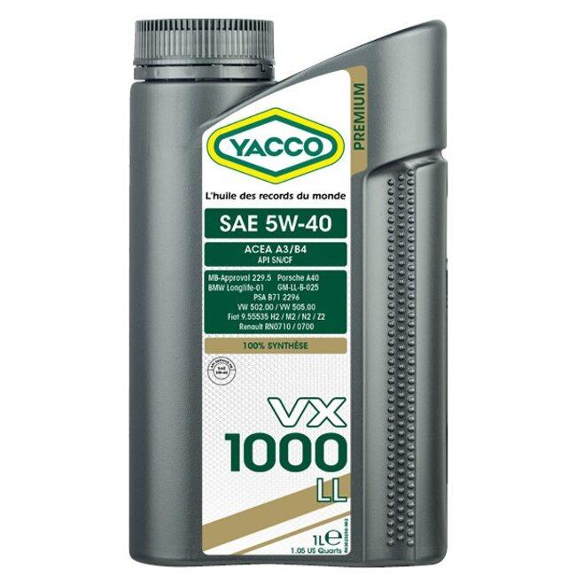 Моторное масло Yacco VX 1000 LL 5W40 1л