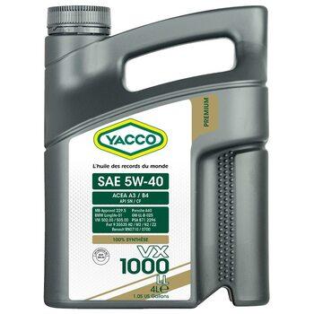 Yacco VX 1000 LL 5W40 4л