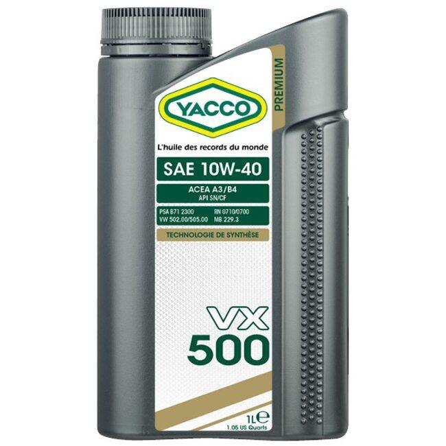 Моторное масло Yacco VX 500 10W40 1л