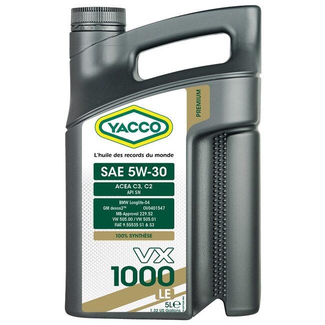 Моторное масло Yacco VX 1000 LE 5W30 5 литров