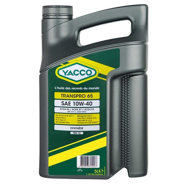 Масло для дизельных и газовых моторов Yacco TRANSPRO 65 10W40 5л