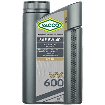Yacco VX 600 5W40 1л