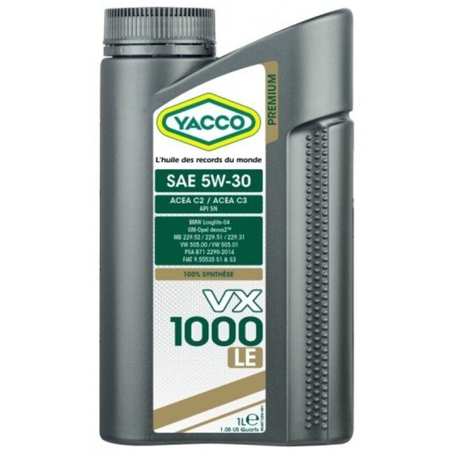 Моторное масло Yacco VX 1000 LE 5W30 1 литр